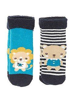 Calcetines - Pack de 2 pares de calcetines de rizo 'animales'