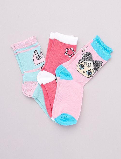 Pack de 2 pares de calcetines 'L.O.L Surprise!'                                          ROSA