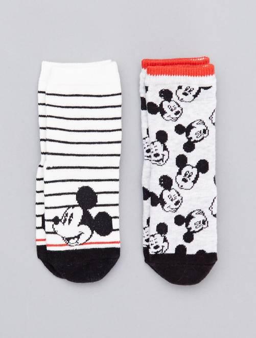 Pack de 2 pares de calcetines 'Mickey'                             BLANCO Bebé niño