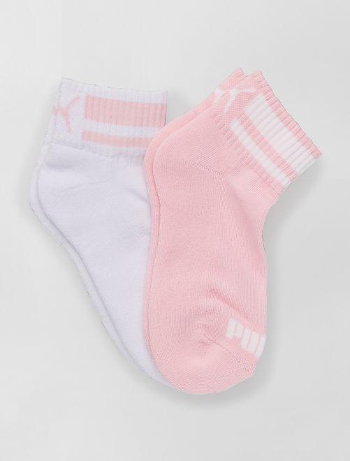 Pack de 2 pares de calcetines 'Puma'                                                     ROSA
