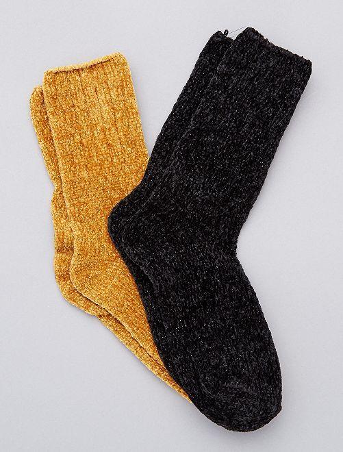 Pack de 2 pares de calcetines suaves                                                                 AMARILLO