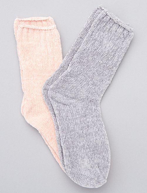 Pack de 2 pares de calcetines suaves                                                                 gris