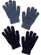 Pack de 2 pares de guantes lisos