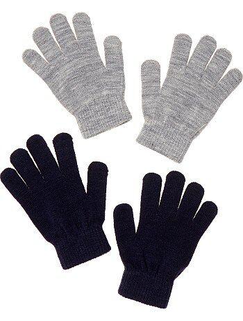 Pack de 2 pares de guantes lisos - Kiabi