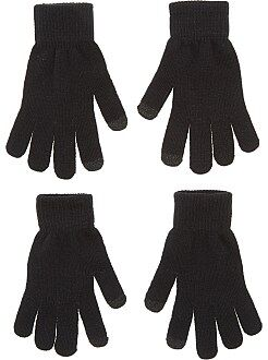 Mujer Pack de 2 pares de guantes táctiles