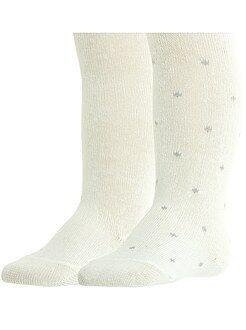 Leotardos, calcetines - Pack de 2 pares de leotardos