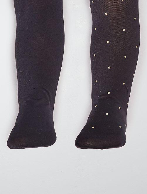 Pack de 2 pares de leotardos                                                     negro