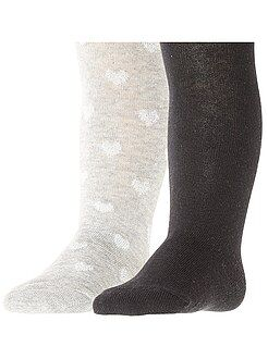 Leotardos, calcetines - Pack de 2 pares de leotardos