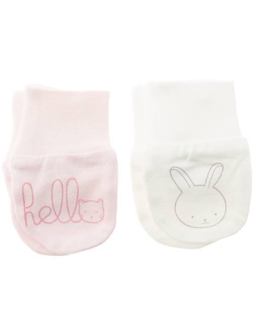 Pack de 2 pares de manoplas antiarañazos                                         rosa pálido