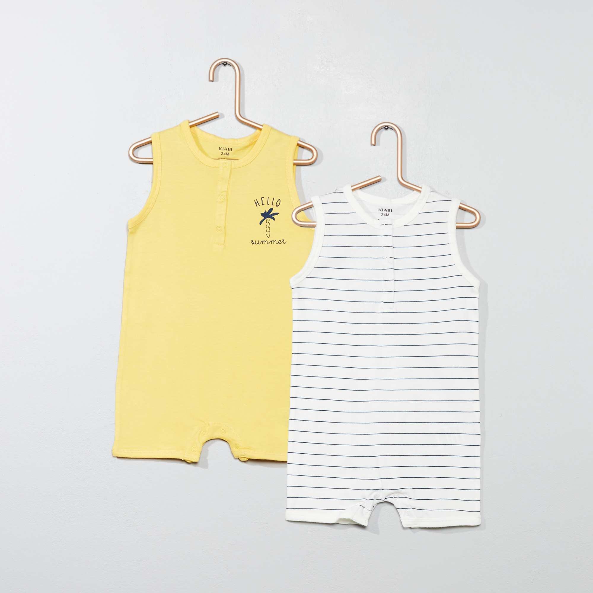 f21b99b3b Pack de 2 peleles estampados Bebé niño - BLANCO - Kiabi - 8