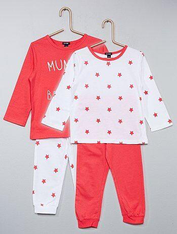 Pack de 2 pijamas estampados - Kiabi