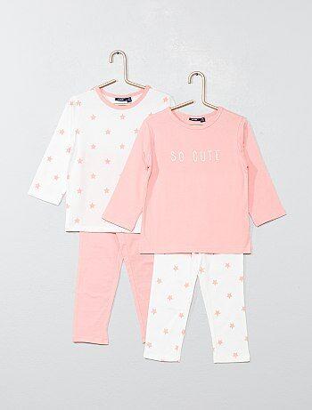 20b9478b9 Pack de 2 pijamas largos 'estrellas' - Kiabi