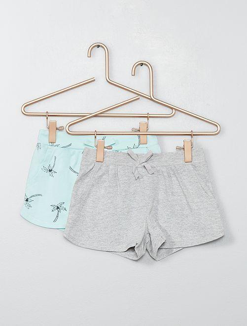 Pack de 2 shorts ligeros                                                                                                                 AZUL Chica