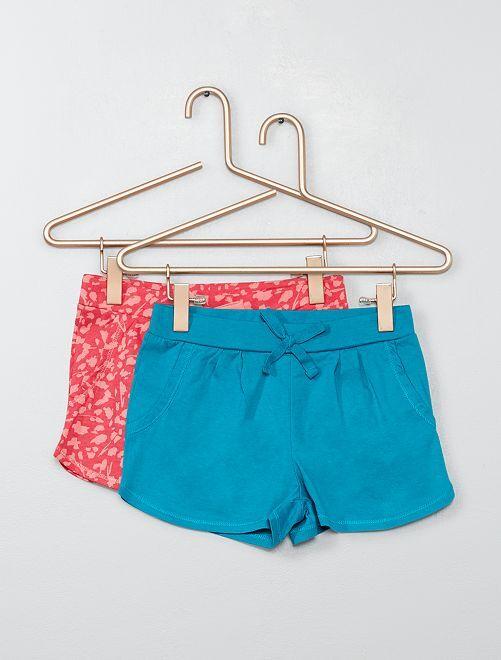 Pack de 2 shorts ligeros                                                     GRIS Chica