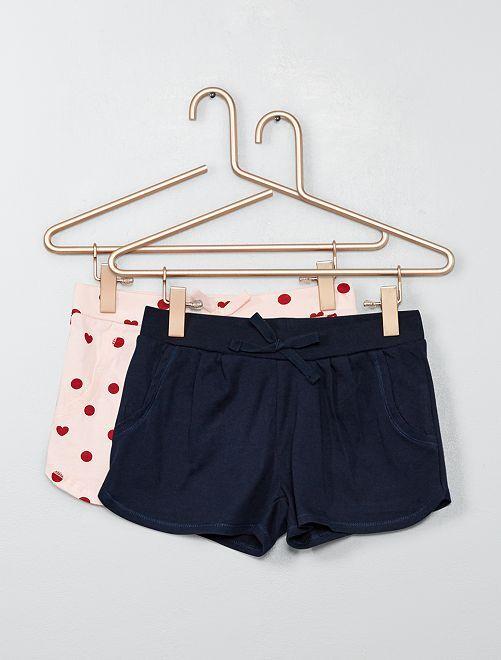 Pack de 2 shorts ligeros                                                                             ROSA Chica