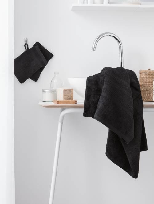 Pack de 2 toallas 30 x 50 cm                                                                                                                 negro Hogar