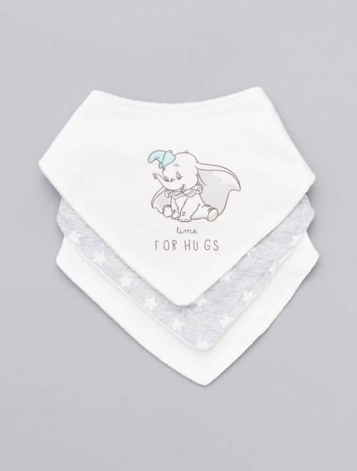 Pack de 3 baberos bandana 'Disney'                             BLANCO Bebé niño