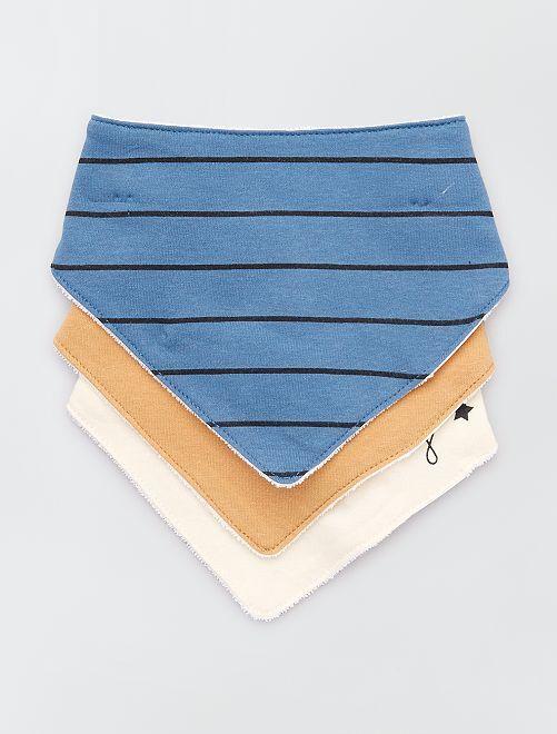 Pack de 3 baberos bandana estampados                                                                 NEGRO