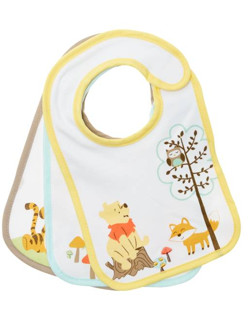 Pack de 3 baberos 'Winnie The Pooh'                             BLANCO Bebé niño