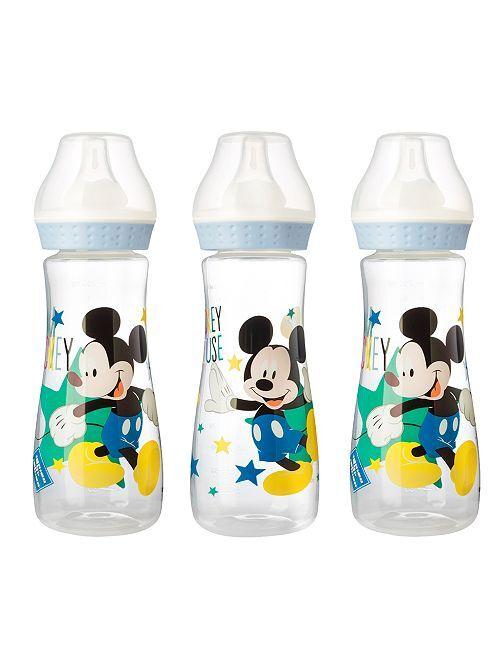 Pack de 3 biberones de 250 ml 'Mickey'                                                     azul Bebé niño