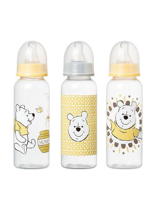 Pack de 3 biberones de 250 ml 'Winnie'                                         amarillo