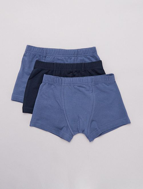 Pack de 3 boxers                                         azul Chico