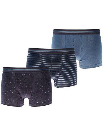 Hombre talla S-XXL - Pack de 3 boxers - Kiabi