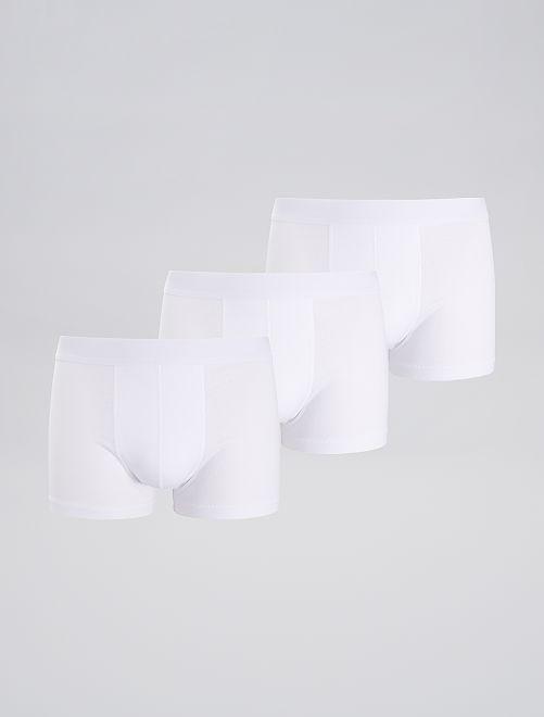 Pack de 3 boxers                                         blanco Hombre
