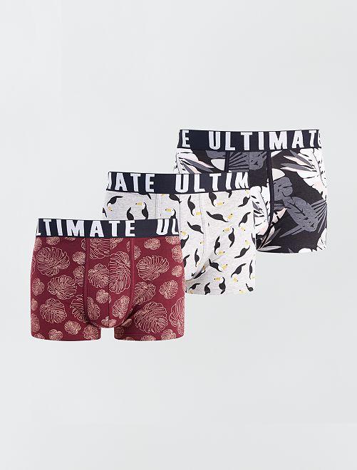 Pack de 3 boxers de fantasía                                                                             GRIS