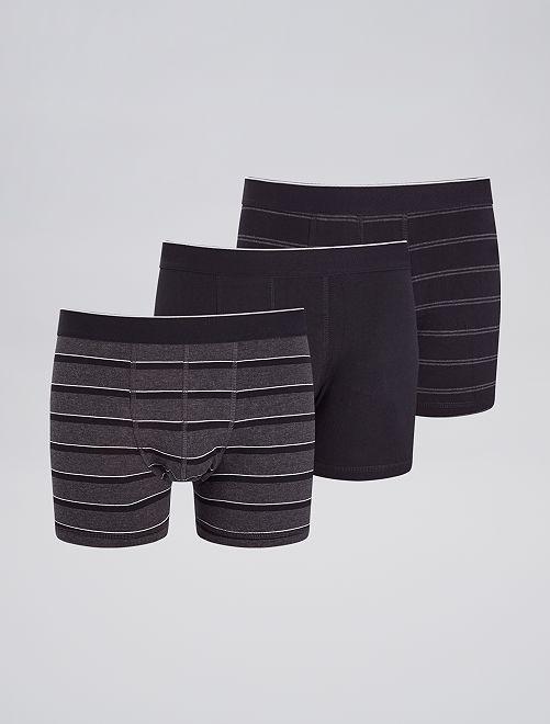 Pack de 3 boxers de fantasía                                                                                                                 GRIS Hombre