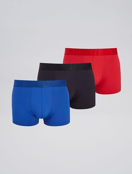 Pack de 3 boxers de microfibra                                         ROJO