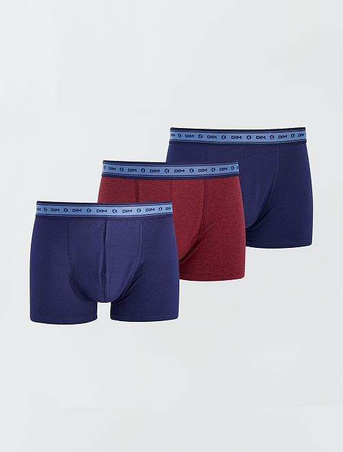 Pack de 3 boxers 'Dim' eco-concepción                                         AZUL