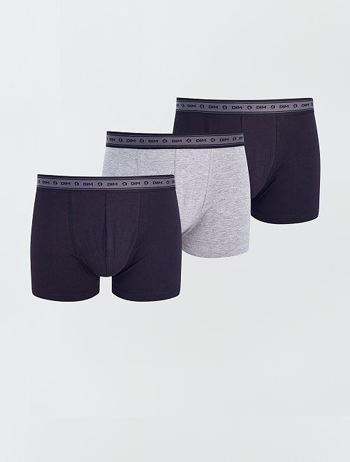 Pack de 3 boxers 'Dim' eco-concepción                                         NEGRO