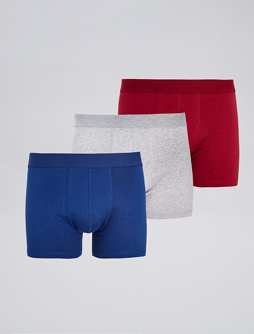 Pack de 3 boxers 'eco-concepción'                                                                                                     AZUL