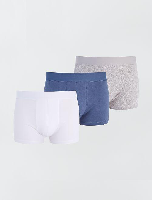 Pack de 3 boxers eco-concepción                                                                                         AZUL