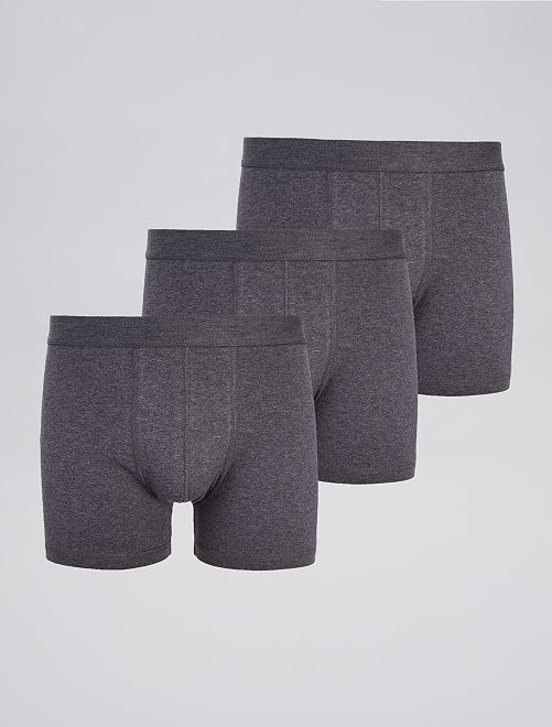 Pack de 3 boxers 'eco-concepción'                                                                                         GRIS