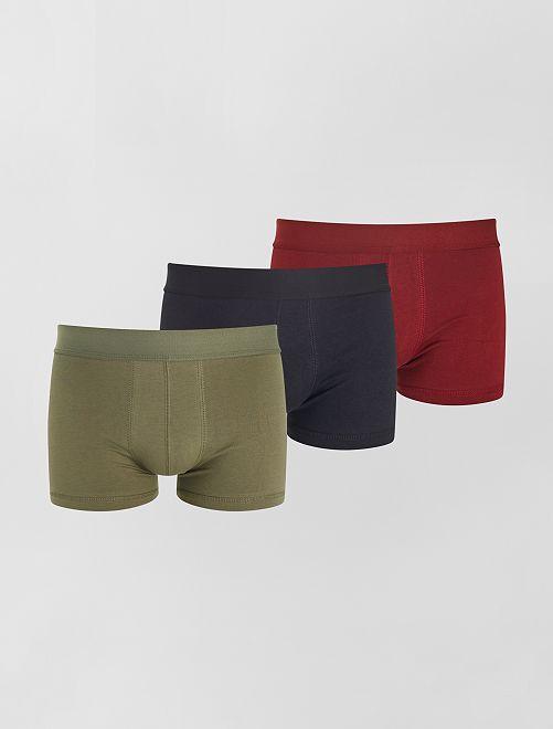 Pack de 3 boxers eco-concepción                                                                                                                 KAKI