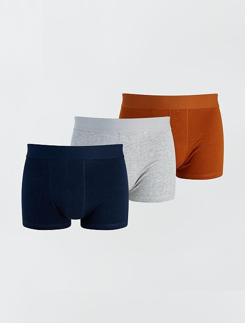 Pack de 3 boxers eco-concepción                                                                                         MARRON