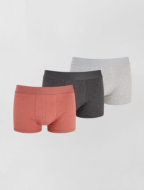 Pack de 3 boxers eco-concepción                                                                                                                 ROSA