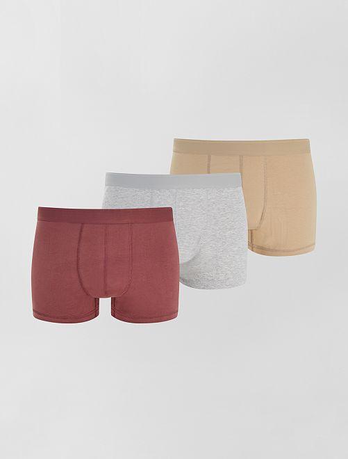 Pack de 3 boxers eco-concepción size+                                                                 beige/gris