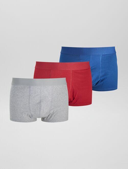 Pack de 3 boxers eco-concepción size+                                                     ROJO