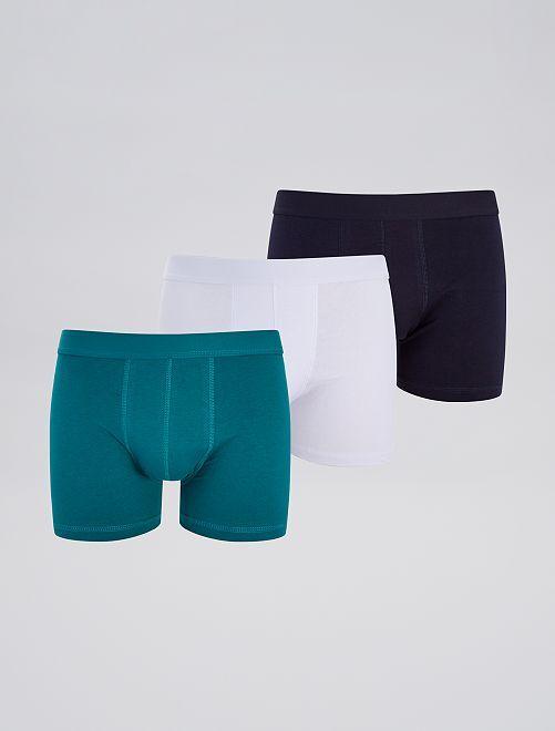 Pack de 3 boxers eco-concepción                                                                                         verde