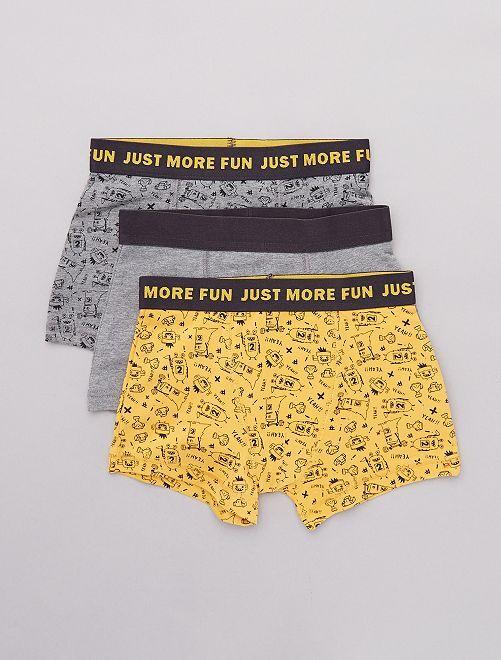 Pack de 3 boxers elásticos                                 AMARILLO
