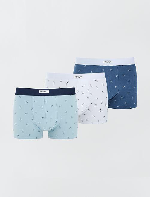 Pack de 3 boxers elásticos                                                                                                                 BLANCO