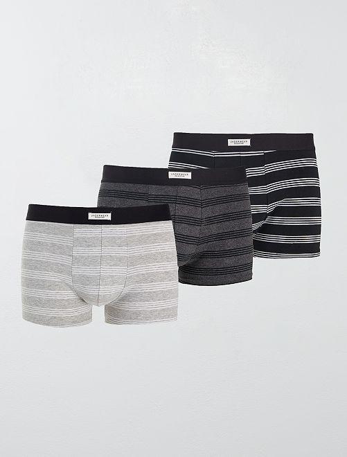 Pack de 3 boxers elásticos                                                                                                     GRIS