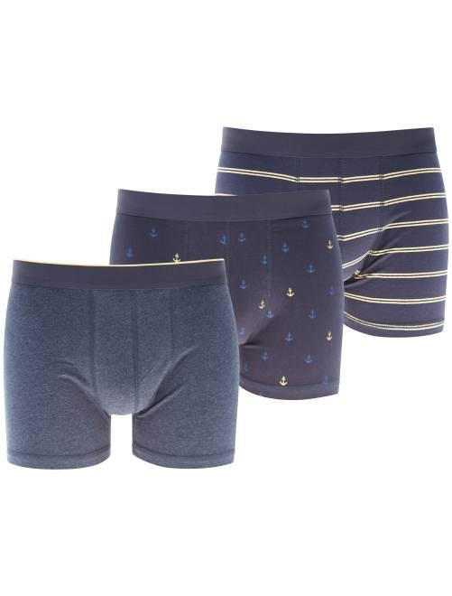 Pack de 3 boxers estampados                                         AMARILLO Hombre