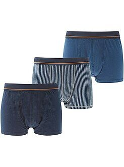 Ropa interior - Pack de 3 boxers estampados tallas grandes - Kiabi