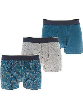 Pack de 3 boxers estampados tallas grandes - Kiabi