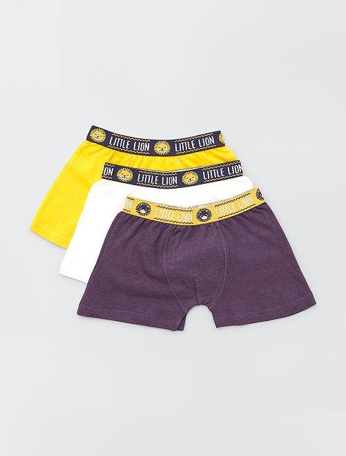 Pack de 3 boxers lisos                             AMARILLO