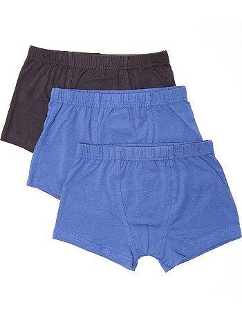 Pack de 3 boxers lisos - Kiabi